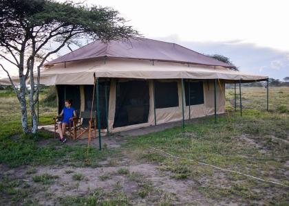 Vores luksus teltlejr i Serengeti