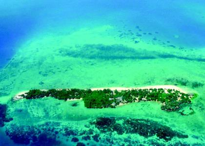 Chapwani Private Island set oppefra