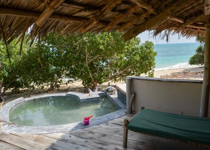 Villaen på Chapwani har en lille privat pool