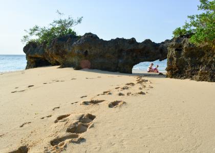 Gå på opdagelse på den lille ø, og find din egen private strand