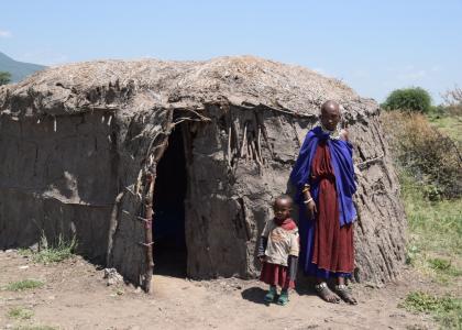 En traditionel bolig i Tanzanias landsbyer