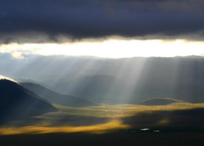 Morgenstunden er noget helt særligt ved Ngorongoro krateret