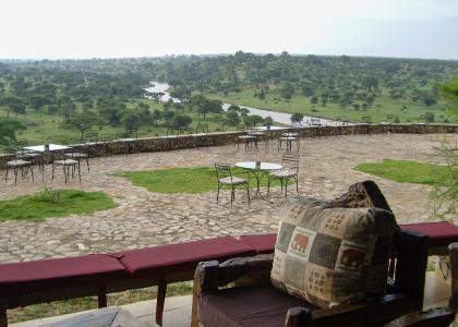 Udsigten fra baren i Tarangire Safari Lodge